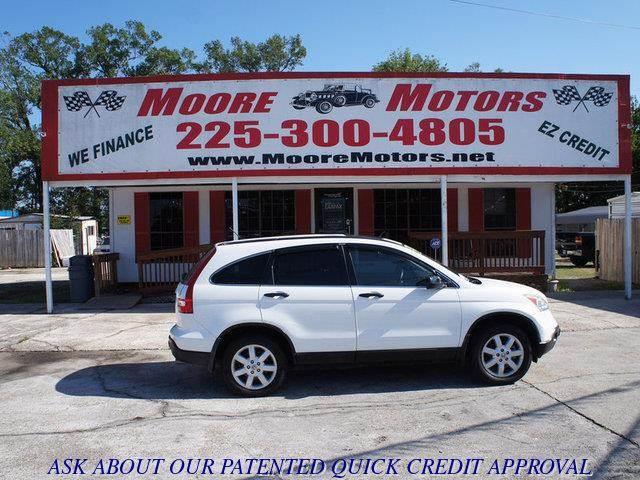 2009 HONDA CR-V EX 4DR SUV white at moore motors everybody rides good credit bad credit no pr