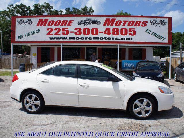 2008 PONTIAC G6 GT 4DR SEDAN white at moore motors everybody rides good credit bad credit no p
