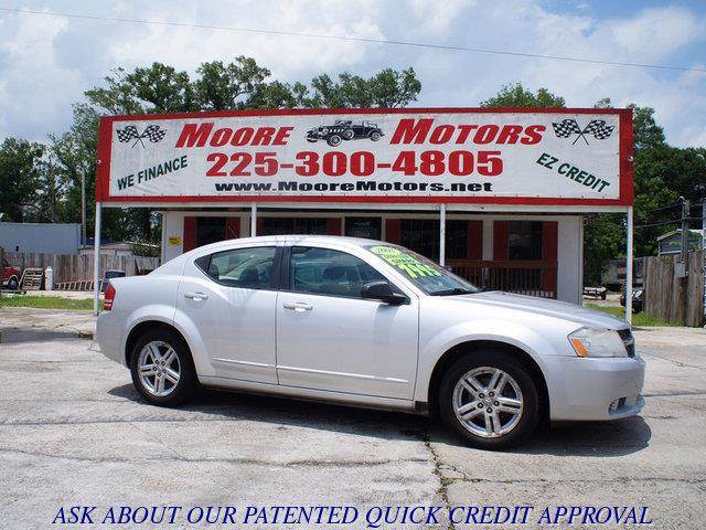 2008 DODGE AVENGER SXT 4DR SEDAN silver at moore motors everybody rides good credit bad credit