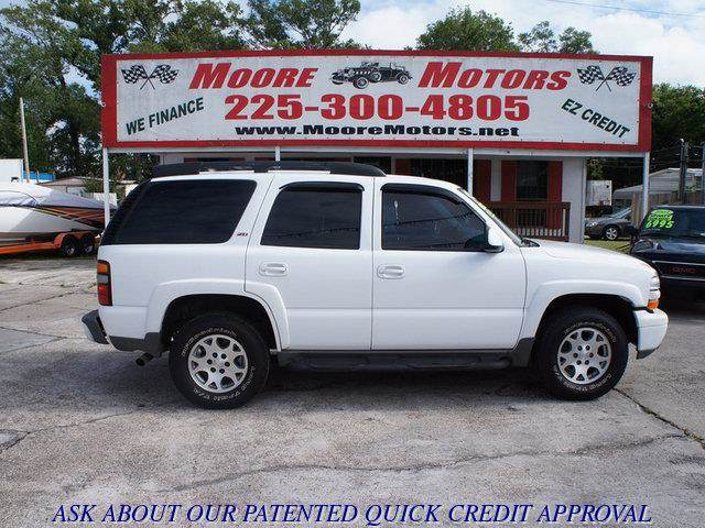 2005 CHEVROLET TAHOE 2WD white at moore motors everybody rides good credit bad credit no probl