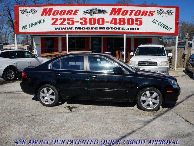 2007 KIA OPTIMA LX V6 black at moore motors everybody rides good credit bad credit no problem