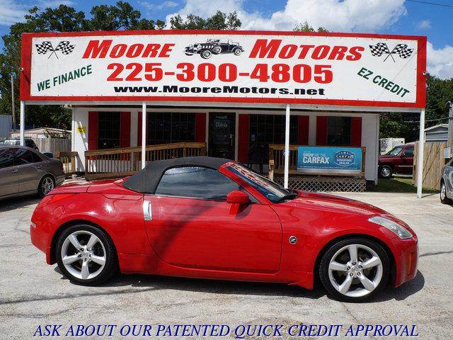 2006 NISSAN 350Z TOURING ROADSTER red at moore motors everybody rides good credit bad credit