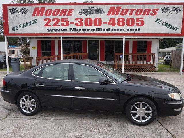 2005 BUICK LACROSSE CXS 4DR SEDAN black at moore motors everybody rides good credit bad credit