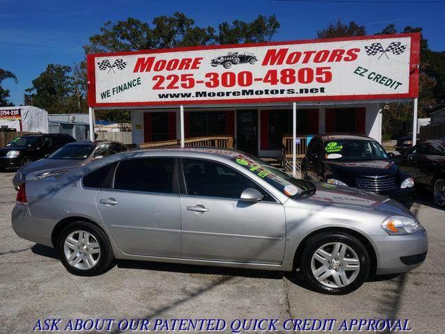 2007 CHEVROLET IMPALA LT 4DR SEDAN silver at moore motors everybody rides good credit bad credi