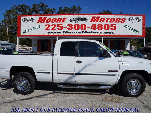 1999 DODGE RAM PICKUP 2500 2500 SHORT BED 2WD white at moore motors everybody rides good credit