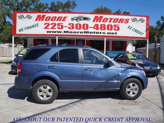 2003 KIA SORENTO LX 2WD blue at moore motors everybody rides good credit bad credit no proble