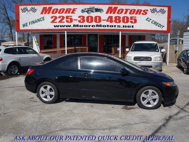 2008 HONDA CIVIC EX-L COUPE AT black at moore motors everybody rides good credit bad credit n