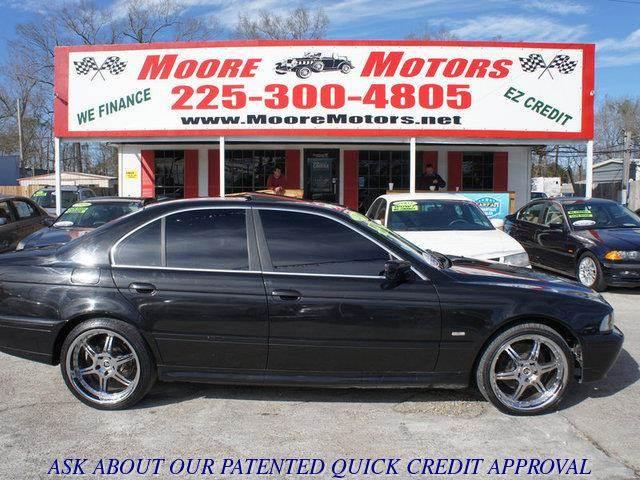 2001 BMW 5 SERIES 530I 4DR SEDAN black at moore motors everybody rides good credit bad credit