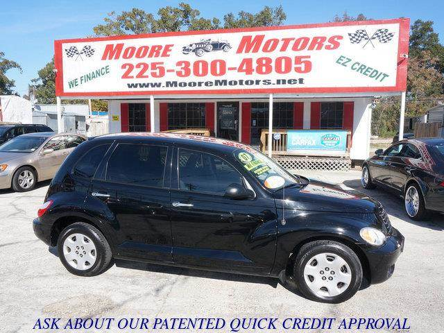 2007 CHRYSLER PT CRUISER TOURING 4DR WAGON black at moore motors everybody rides good credit ba