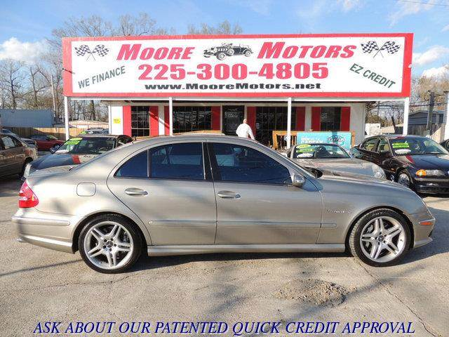 2004 MERCEDES-BENZ E-CLASS E55 AMG 4DR SEDAN silver at moore motors everybody rides good credit