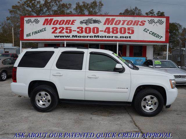 2007 CHEVROLET TAHOE LS 4DR SUV white at moore motors everybody rides good credit bad credit n