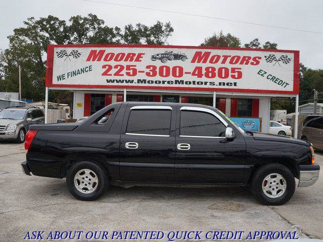 2005 CHEVROLET AVALANCHE 1500 2WD black at moore motors everybody rides good credit bad credit