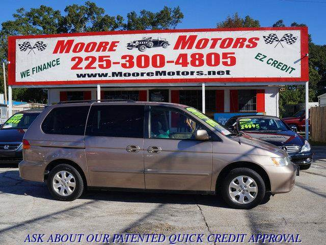 2003 HONDA ODYSSEY EX-L WDVD 4DR MINIVAN WENTERTA tan at moore motors everybody rides good cre