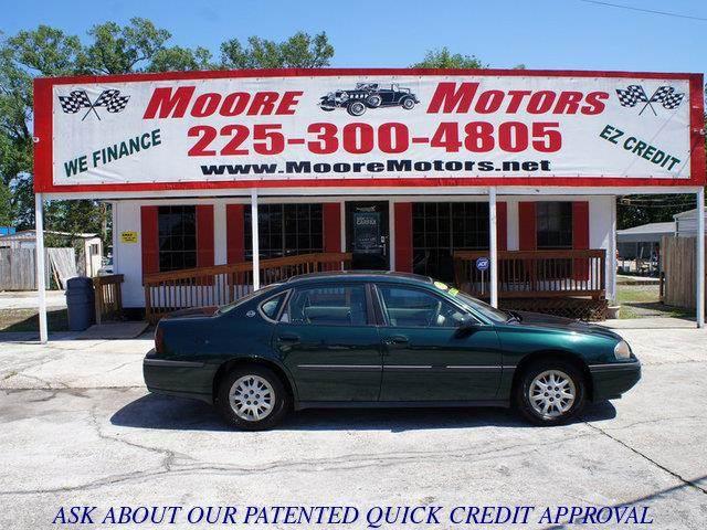 2002 CHEVROLET IMPALA BASE 4DR SEDAN green at moore motors everybody rides good credit bad cred