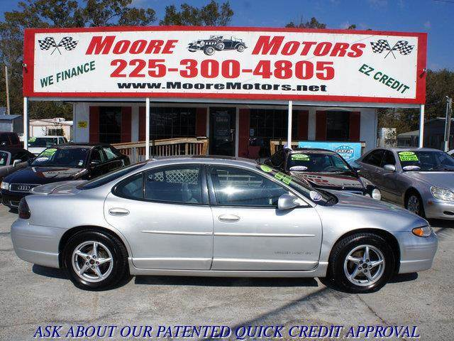 2003 PONTIAC GRAND PRIX GT 4DR SEDAN silver at moore motors everybody rides good credit bad cr
