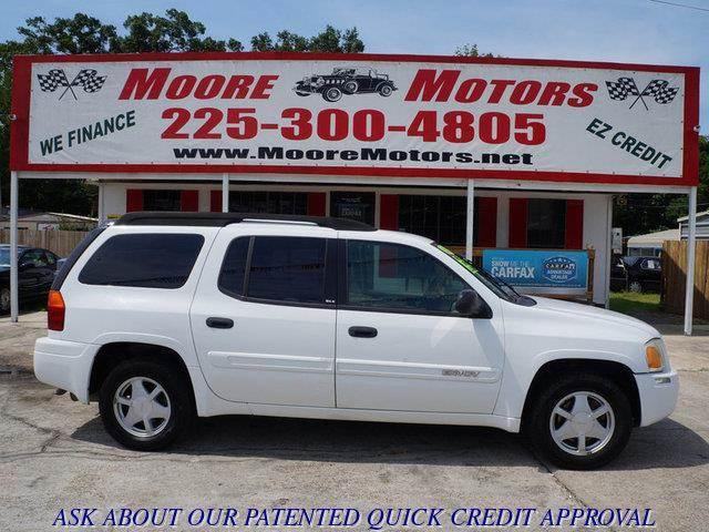 2003 GMC ENVOY XL XL SLE 2WD white at moore motors everybody rides good credit bad credit no p