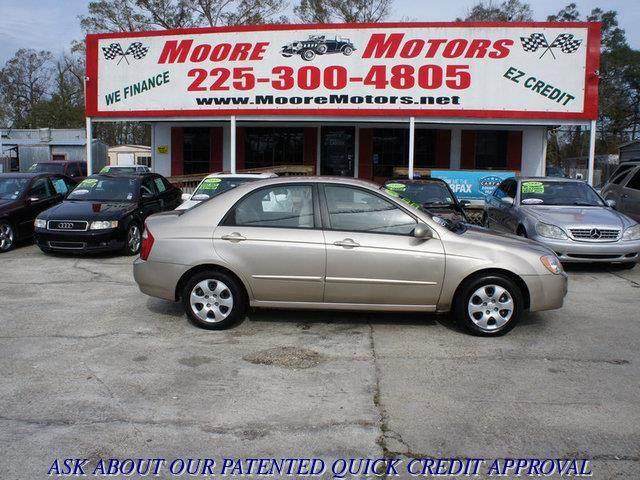 2006 KIA SPECTRA EX 4DR SEDAN WAUTOMATIC tan at moore motors everybody rides good credit bad