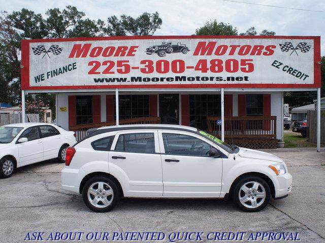 2007 DODGE CALIBER SXT 4DR WAGON white at moore motors everybody rides good credit bad credit
