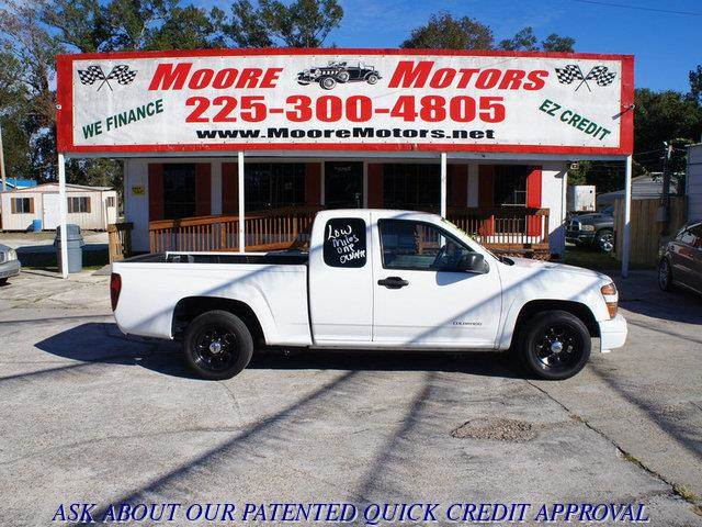 2004 CHEVROLET COLORADO LS Z71 EXT CAB 2WD white at moore motors everybody rides good credit