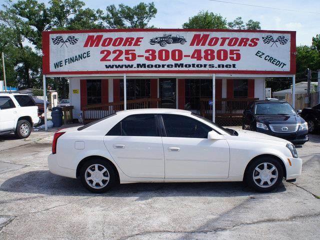 2003 CADILLAC CTS BASE 4DR SEDAN white at moore motors everybody rides good credit bad credit