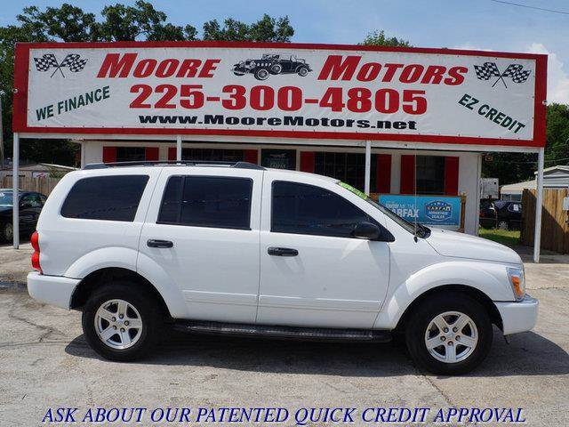 2005 DODGE DURANGO SLT 2WD white at moore motors everybody rides good credit bad credit no pro
