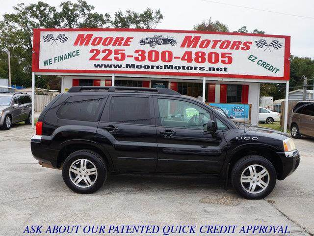 2004 MITSUBISHI ENDEAVOR XLS FWD black at moore motors everybody rides good credit bad credit