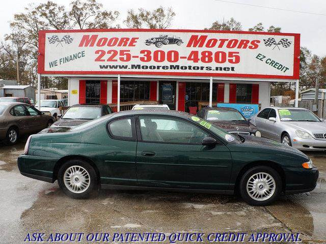 2002 CHEVROLET MONTE CARLO LS 2DR COUPE green at moore motors everybody rides good credit bad