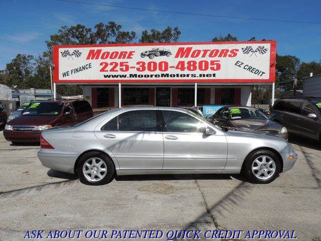 2000 MERCEDES-BENZ S-CLASS S500 4DR SEDAN silver at moore motors everybody rides good credit ba