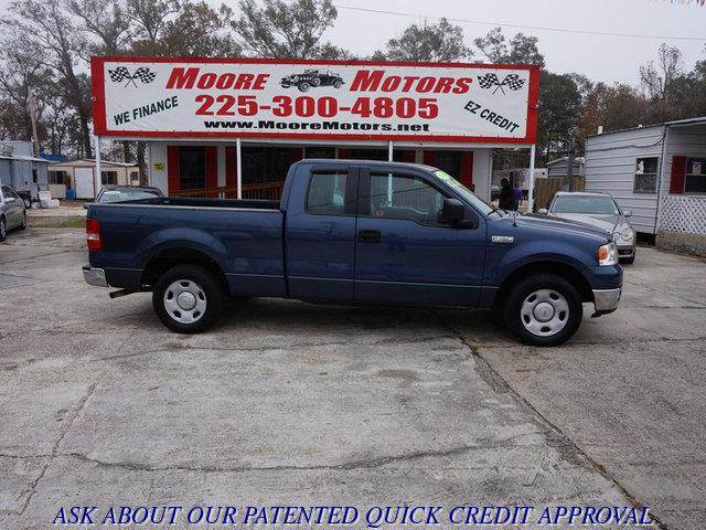 2004 FORD F-150 XLT SUPERCAB 2WD blue at moore motors everybody rides good credit bad credit n