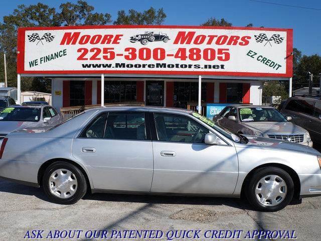 2002 CADILLAC DEVILLE BASE 4DR SEDAN silver at moore motors everybody rides good credit bad cre