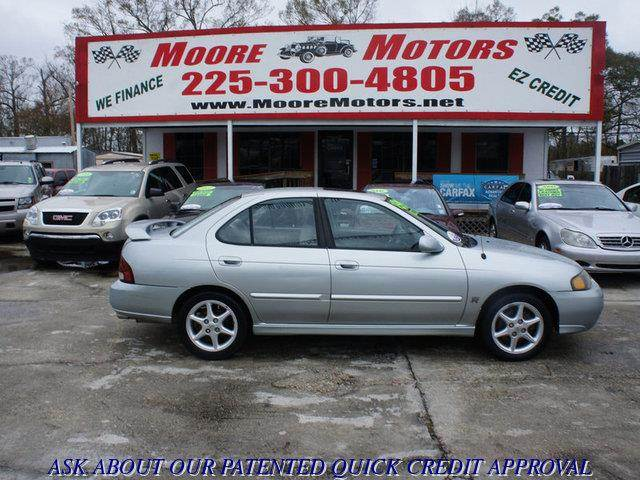 2003 NISSAN SENTRA SE-R 4DSEDAN silver at moore motors everybody rides good credit bad credit