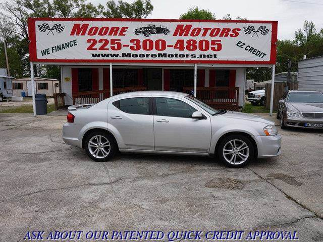 2011 DODGE AVENGER HEAT 4DR SEDAN silver at moore motors everybody rides good credit bad credi