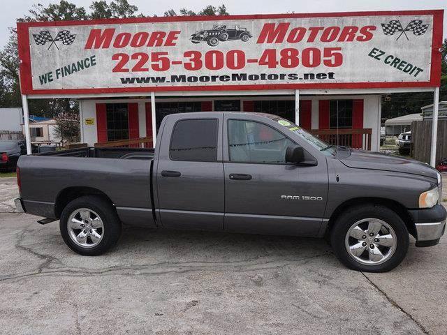 2003 DODGE RAM PICKUP 1500 1500 SHORT BED 2WD gray at moore motors everybody rides good credit