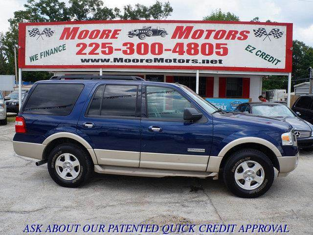 2007 FORD EXPEDITION EDDIE BAUER 4DR SUV blue at moore motors everybody rides good credit bad