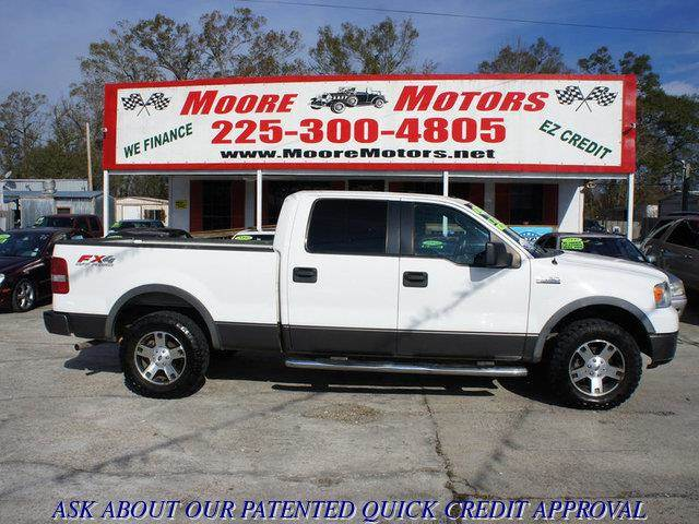 2006 FORD F-150 XLT SUPERCREW 4WD white at moore motors everybody rides good credit bad credit