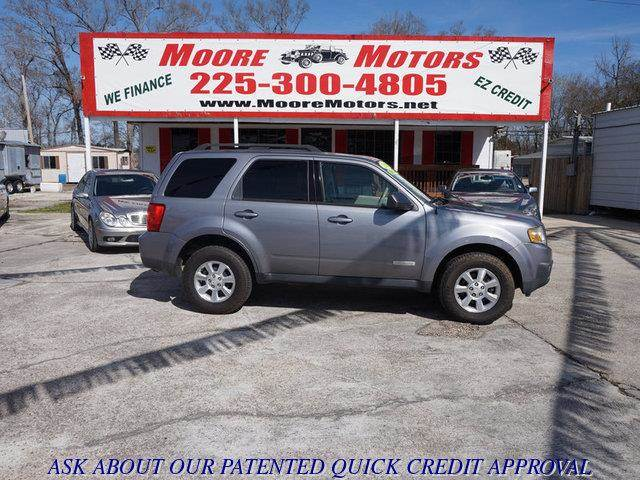 2008 MAZDA TRIBUTE I SPORT FWD gray at moore motors everybody rides good credit bad credit no