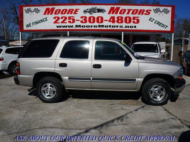 2006 CHEVROLET TAHOE 2WD tan at moore motors everybody rides good credit bad credit no proble