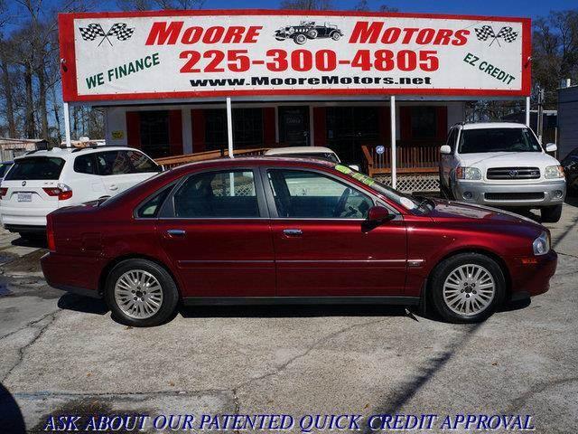 2004 VOLVO S80 29 4DR SEDAN red at moore motors everybody rides good credit bad credit no pr