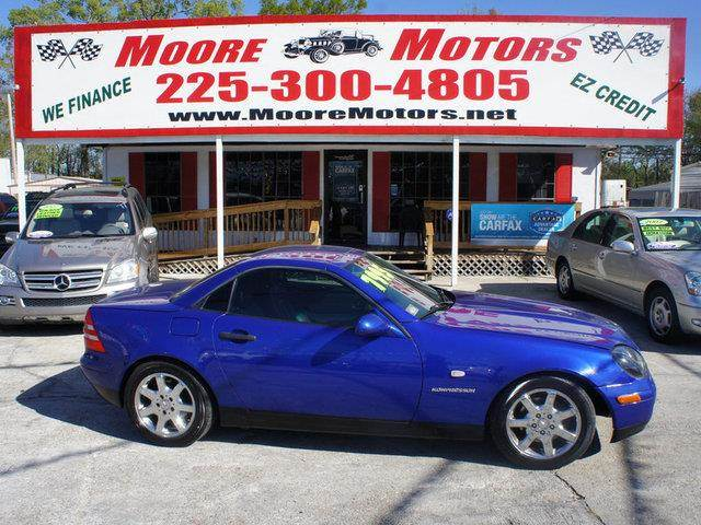 1998 MERCEDES-BENZ SLK-CLASS SLK230 2DR SUPERCHARGED CONVERTI blue at moore motors everybody ride