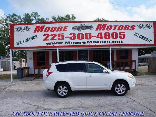 2009 TOYOTA RAV4 LIMITED 4DR SUV white at moore motors everybody rides good credit bad credit