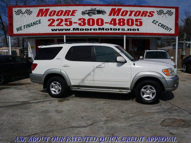 2003 TOYOTA SEQUOIA SR5 4DR SUV white at moore motors everybody rides good credit bad credit
