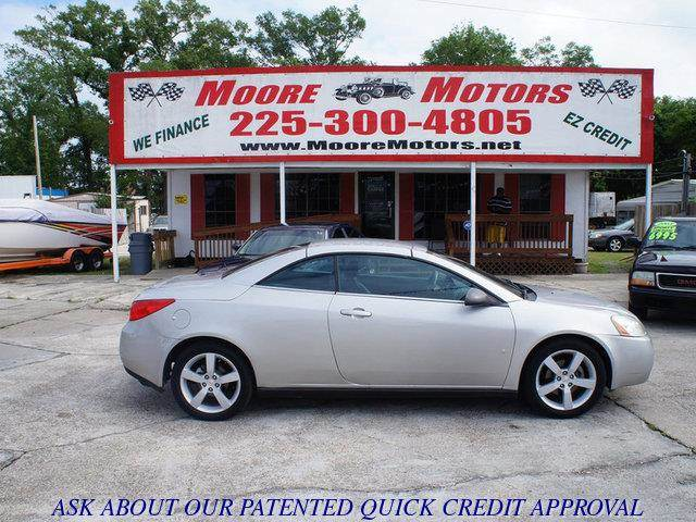 2007 PONTIAC G6 GT 2DR CONVERTIBLE silver at moore motors everybody rides good credit bad cred
