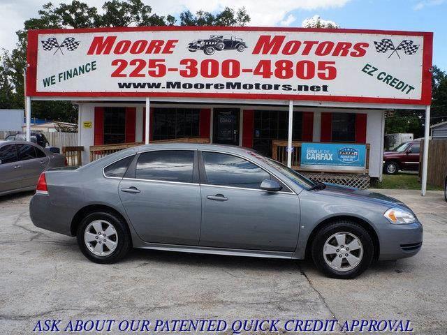 2009 CHEVROLET IMPALA LT 4DR SEDAN gray at moore motors everybody rides good credit bad credit