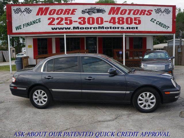 2004 KIA AMANTI BASE 4DR SEDAN gray at moore motors everybody rides good credit bad credit no
