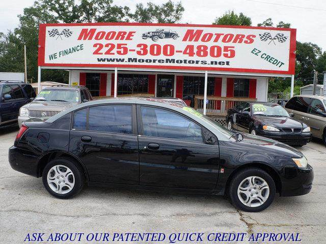 2003 SATURN ION 2 4DR SEDAN black at moore motors everybody rides good credit bad credit no p