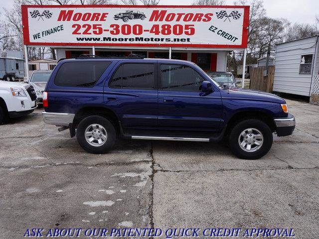 2001 TOYOTA 4RUNNER SR5 2WD 4DR SUV blue at moore motors everybody rides good credit bad credi