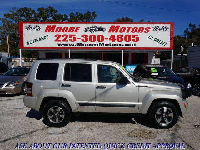 2008 JEEP LIBERTY SPORT 4X4 SUV tan at moore motors everybody rides good credit bad credit no