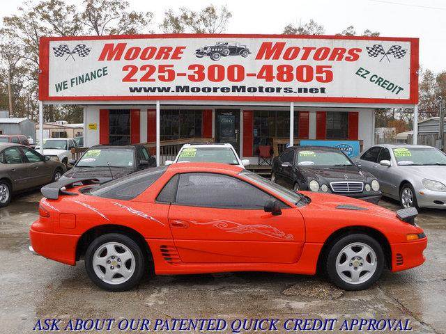 1993 MITSUBISHI 3000GT SL 2DR HATCHBACK red at moore motors everybody rides good credit bad cre