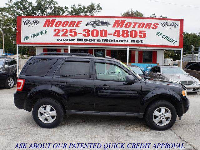 2009 FORD ESCAPE XLT 4DR SUV black at moore motors everybody rides good credit bad credit no
