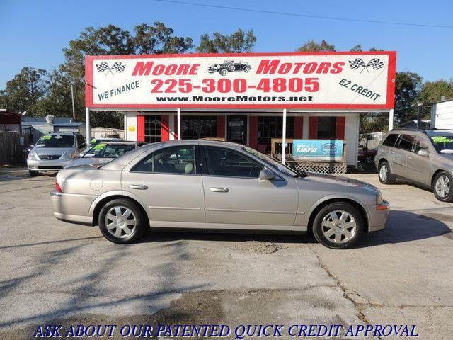 2002 LINCOLN LS BASE 4DR SEDAN V8 tan at moore motors everybody rides good credit bad credit
